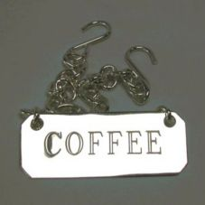 "D.W. Haber ID TAG COF S/P Coffee ID Tag With 21"" Chain"