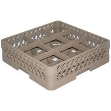 Vollrath TR10F Traex Beige 9 Compartment Glass Rack with 1 Extender