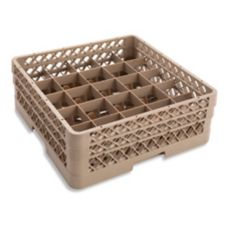 Vollrath TR6BA Traex Beige 25 Compartment Glass Rack with 3 Extenders