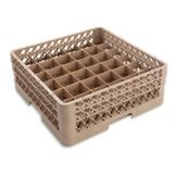 Vollrath TR7CA Traex Beige 36 Compartment Glass Rack with 2 Extenders