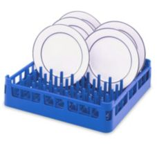 Full Size Extended Plate Rack, Royal Blue, 20 x 20 x 4-7/8 H