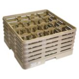 "Brown 16 Compartment Glass Rack, 19-3/4"" x 19-3/4"""