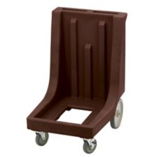 Cambro CD300HB131 Dark Brown Camdolly with Handle & Rear Big Wheels