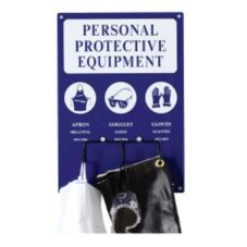 Bilingual Personal Protective Gear Display Rack