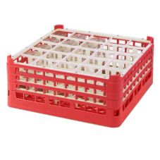 Vollrath® 5271133 Red Full Size Tall 25-Compartment Glass Rack