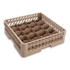 Vollrath TR5A Traex 20 Compartment 1 Open Extender Beige Cup Rack