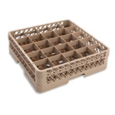 Traex® TR6B Beige 25 Compartment Glass Rack with 1 Extender