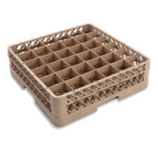 Traex® TR7C Beige 36 Compartment Glass Rack with 1 Extender