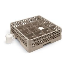 Vollrath® TR4D Traex® 16 Compartment 1 Extender Beige Cup Rack