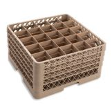 Vollrath TR6BBBB Traex Beige 25 Compartment Glass Rack w/ 4 Extenders