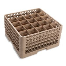 Traex® TR6BBBB Beige 25 Compartment Glass Rack with 4 Extenders
