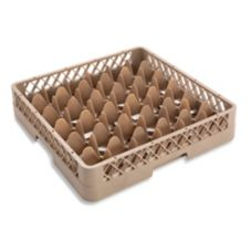 Traex® TR7 Beige 36 Compartment Glass Rack