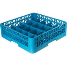Carlisle® OptiClean 20 Compartment Cup Rack w/ Open Extender, Blue