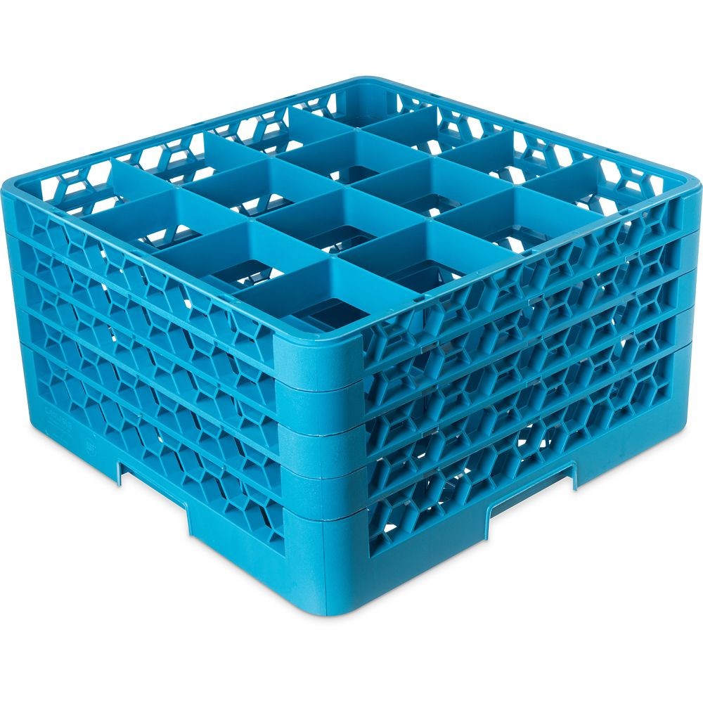 OptiClean Carlisle RG16-414  Blue 16-Compartment Glass Rack at Sears.com
