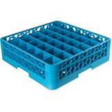 Carlisle® OptiClean Blue 36 Compartment Glass Rack w/ 1 Extender