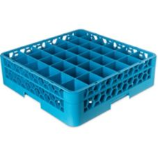 Carlisle® RG36-114 OptiClean Blue 36-Compartment Glass Rack