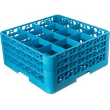 Carlisle® RG16314 OptiClean 16-Compartment Blue Glass Rack