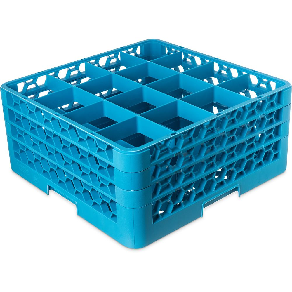 OptiClean Carlisle RG16314  16-Compartment Blue Glass Rack at Sears.com