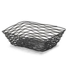 TableCraft BK17212 Artisan Collection Black Metal Rectangular Basket