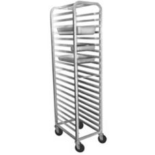 Win-Holt ALSPR-2212 Aluminum Full Height Open Side 12-Steam Pan Rack