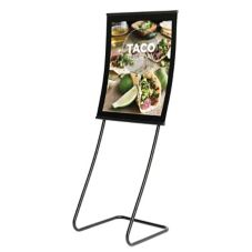 Visual Graphic Systems CC-CFP-L1V Concurva Black Freestanding Display