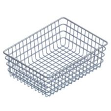 "Marlin Steel Wire Products 153 Chrome 18"" x 24"" x 8"" Bagel Basket"