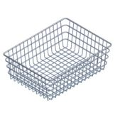"Marlin Steel Wire 151 Chrome Plated 14"" x 18"" x 6"" Utility Basket"