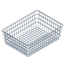 "Marlin Steel Wire 152-12 Nickel Plated 14"" x 20"" x 6"" Bagel Basket"
