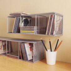 Design Ideas 351109 Small Silver Mesh CD Tower