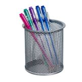 Design Ideas Silver Mesh Pencil Cup