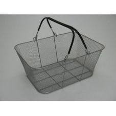 Design Ideas ShopCrate™ Silver Mesh Basket
