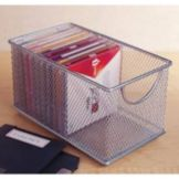 "Design Ideas 8""x4.5"" Silver Mesh Zip Box"