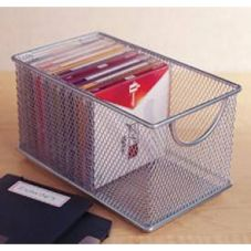 "Design Ideas 34259 8"" x 4.5"" Silver Mesh Zip Box"