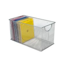 "Design Ideas 34289 11"" x 5.7"" Silver Mesh CD Box"