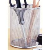 Design Ideas 342049 Giant Silver Mesh Pencil Cup