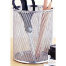 Design Ideas 342049 Giant Silver Mesh Pencil Cup