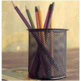 Design Ideas 34104 Black Mesh Pencil Cup