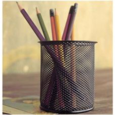 Design Ideas Black Mesh Pencil Cup