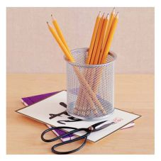 Design Ideas Silver Mesh Utensil Cup