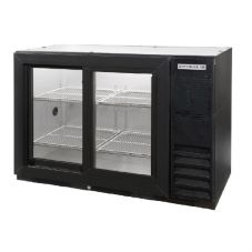 "Beverage-Air Black 48"" Backbar Sliding Glass Door Refrigerator"