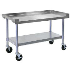 "APW Wyott SSS-48C HD 48""W Cookline Equipment Stand with Casters"