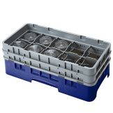 Cambro 10HS434186 Navy Blue 5-1/4 Glass Rack with 2 Extender - 4 / CS
