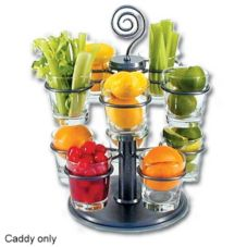 Dine Art 4020-S-S Silver Spiral Top Garnish Carousel Caddy