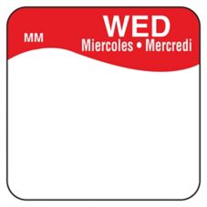 "DayMark MoveMark™ Trilingual 1"" Wednesday Day Square"