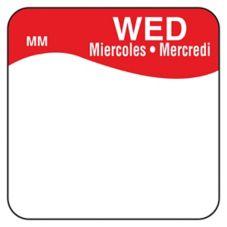 "DayMark 1100343 Trilingual 1"" Wednesday Day Square - 1000 / RL"
