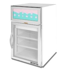 Beverage-Air CR5-1W-G White Countertop Reach-In Display Refrigerator