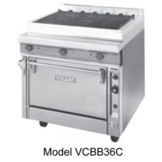 "Vulcan Hart VCBB36 V Series S/S 36"" Gas Range with Char-Radiants"