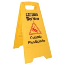"Update International WFS-25 Yellow 24"" Wet Floor Sign"