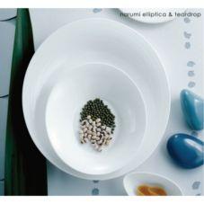 """Steelite 40005295 Narumi Elliptica  12½"""" Oval Plate - 12 / CS"""