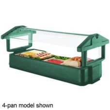 Cambro® 6FBRTT519 Kentucky Green 6 Ft. 5 Pan Tabletop Salad Bar